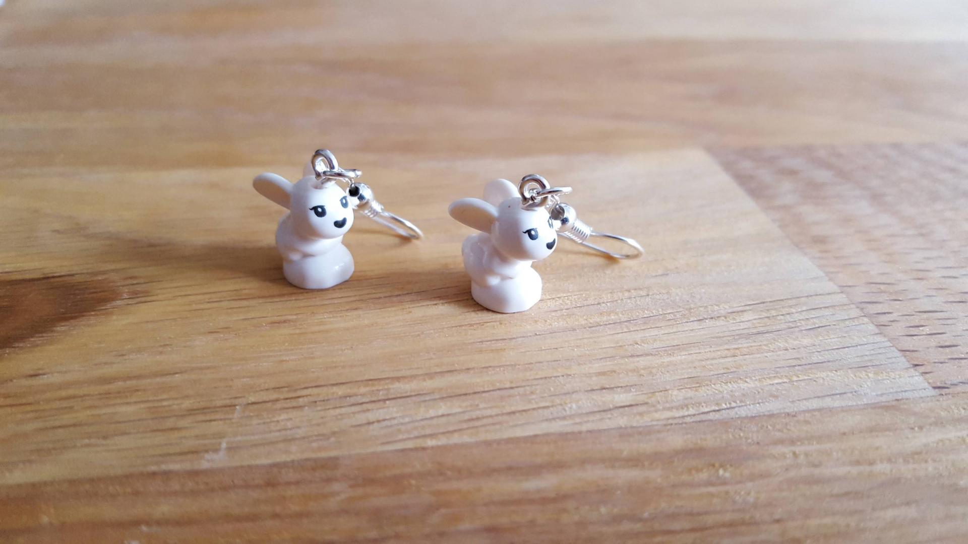 Boucle d'oreilles lapin